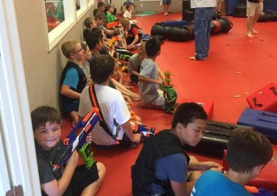 kids sitting in dojo