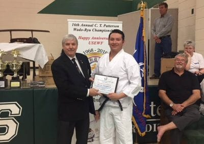 karate adult accepting award