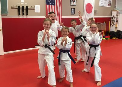 karate kids in uniform