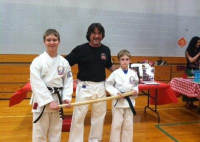 bill taylor with karate students