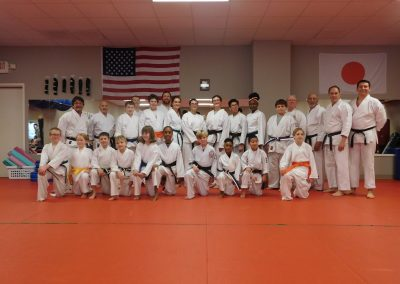 karate class portrait in uniform