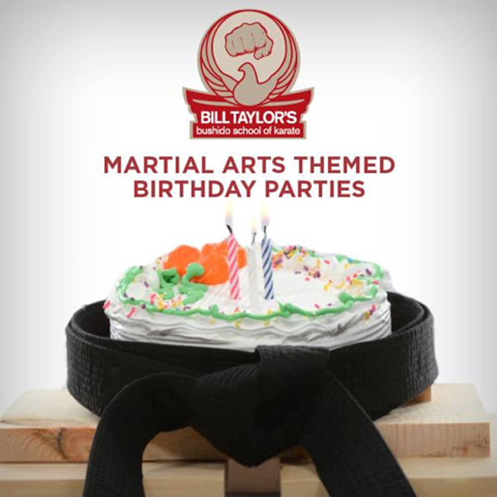 bill taylor's bushido school of karate - martial arts birthday parties image with cake