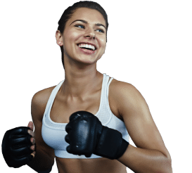 cardio kickboxing woman